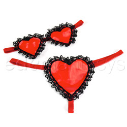 Vinyl pleasures heart set - sexy panty