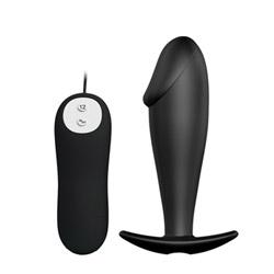 Vibrating anal plug - Vibrating penis shaped butt plug - view #1