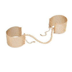 Wrist cuffs - Desir Metallique metallic mesh handcuffs - view #1