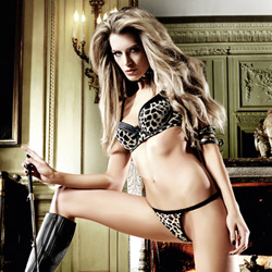 Cheetah mesh g-string - sexy panty