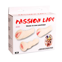 Realistic vagina - Passion lady set of three - view #7
