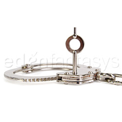 Handcuffs - Double locking nickel handcuffs - view #2