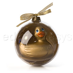 Holiday ball gold duckie - discreet massager