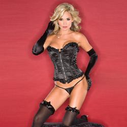 Fully boned satin corset