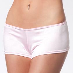 Pink lycra booty short - shorts