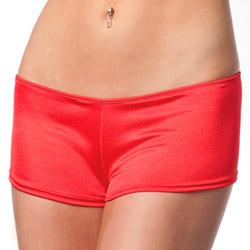 Red lycra booty short - shorts