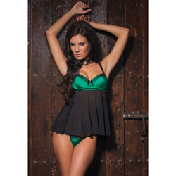 Mesh babydoll and g-string - babydoll and panty set