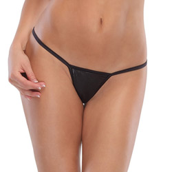 Black wetlook g-string - sexy panty