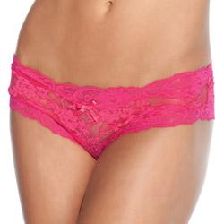 Fuchsia lace crotchless panty