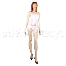 Strapless babydoll and tanga panty set - babydoll and panty set