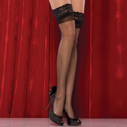 Sheer thigh highs - hosiery