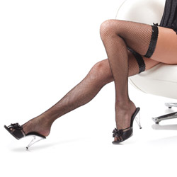 Thigh high fishnet stockings