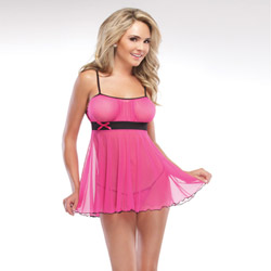 Babydoll criss cross straps and g-string - babydoll and panty set