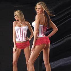 Satin padded corset