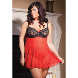 Holiday babydoll - babydoll and panty set