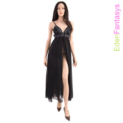 Sequin seduction gown and g-string