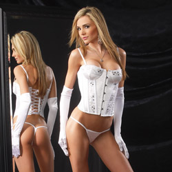 Sequin seduction corset and g-string - corset and panty set