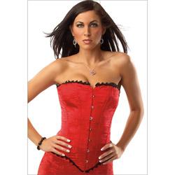 Brocade corset