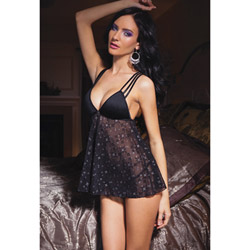 Starburst babydoll and g-string - babydoll and panty set