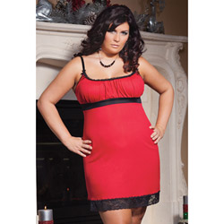 Red cotton chemise