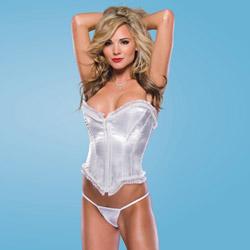 White satin corset