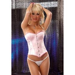 Pink satin brocade corset