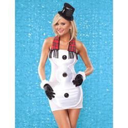 Satin snowman dress - costume