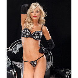 Star sequin bra and g-string - bra and panty set