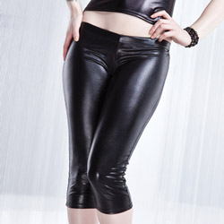 Wetlook capri pants