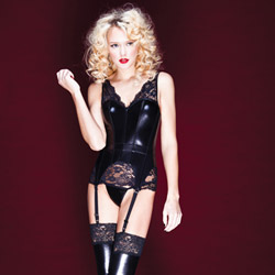 Wetlook corset