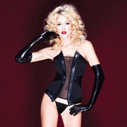 Darque pleather corset