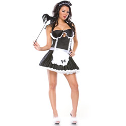 Retro french maid - sexy costume
