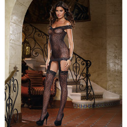 Leopard garter dress - chemise