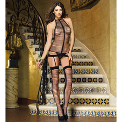 Black garter dress - chemise