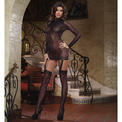 Open back garter dress - chemise