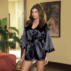 Black robe and babydoll - bed jacket