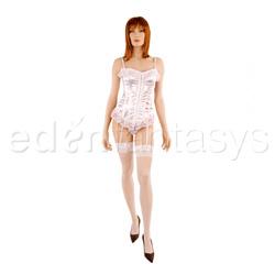 Satin corset set - corset and panty set