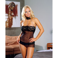 Lycra net chemise set - chemise and panty set