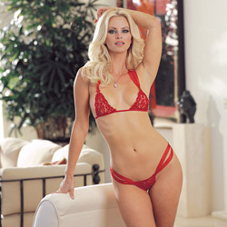 Intensity bra and g-string set - bra and panty set