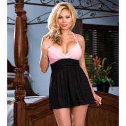 Pink champagne dress - mini dress