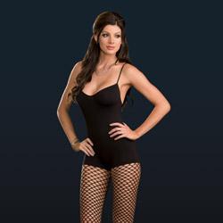 Bodystocking with fence net leggings - bodystockings
