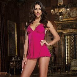Knit babydoll and thong - babydoll and panty set