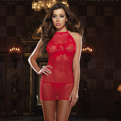 Red chemise and g-string