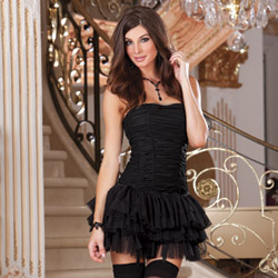 Tutu skirt corset and stockings