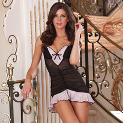 To Paris chemise and thong