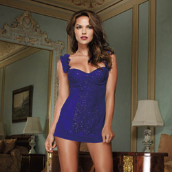 Sequin chemise and thong