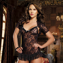 Chemise thong and jacket - chemise and panty set