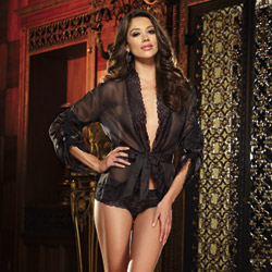 Sheer indulgence kimono and boyshort - peignoir