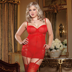Red midnight mistress chemise