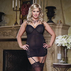 Black midnight mistress chemise